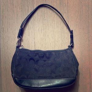 Coach Black Canvas Handbag
